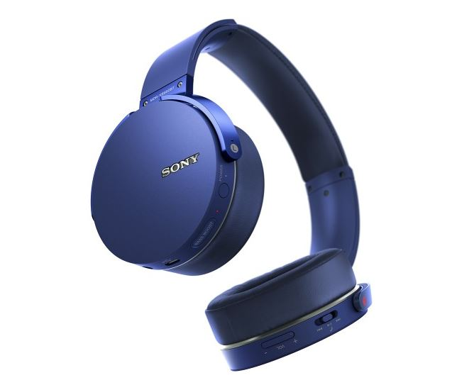 sony mdr xb950bt l extra bass bluetooth wireless headphones w microphone bl. Black Bedroom Furniture Sets. Home Design Ideas