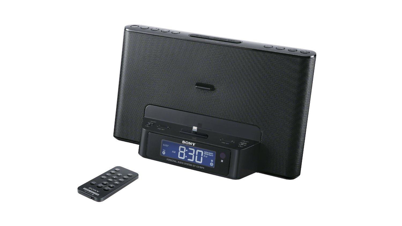 sony icf cs15ip speaker dock clock radio iphone 5s 5c ipod lightning connecto. Black Bedroom Furniture Sets. Home Design Ideas