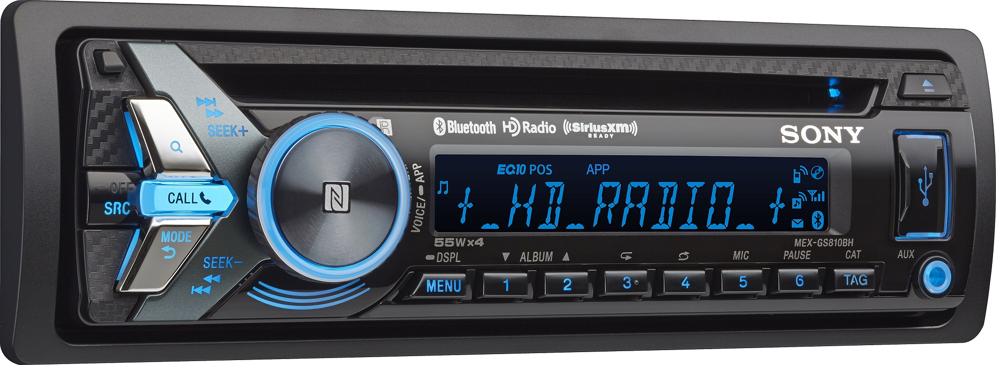 Sony Mex Gs810bh Streaming Bluetooth Nfc Hd Radio Car