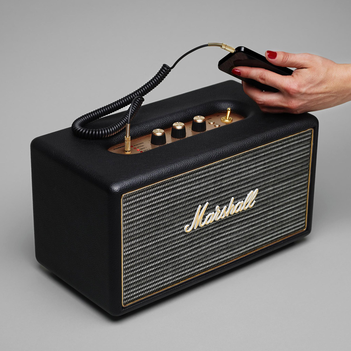 Marshall Stanmore Bluetooth Stereo Speaker Black for sale online  d9bceee1be693
